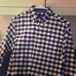 Men's American eagle button up plaid shirt
